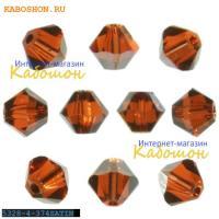 Swarovski Xilion beads 4 мм Indian Red Satin