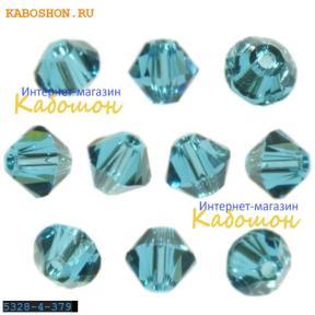 Swarovski Xilion beads 4 мм Indicolite