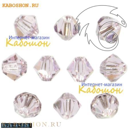Бусина биконус Swarovski (Сваровски) Xilion beads 3 мм Rosaline