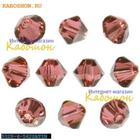 Swarovski Xilion beads 4 мм Padparadscha Satin