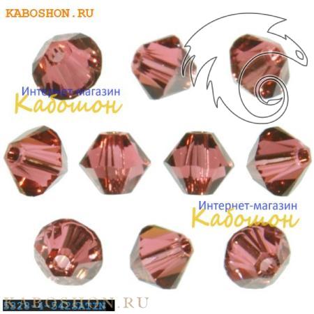 Бусина биконус Swarovski (Сваровски) Xilion beads 4 мм Padparadscha Satin