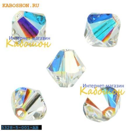 Swarovski Xilion beads 5 мм Crystal AB