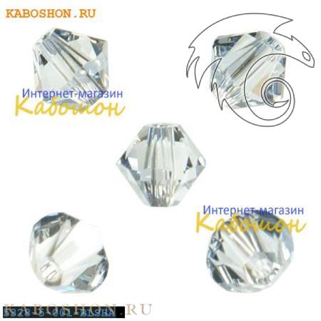 Бусина биконус Swarovski (Сваровски) Xilion beads 5 мм Crystal Blue Shade