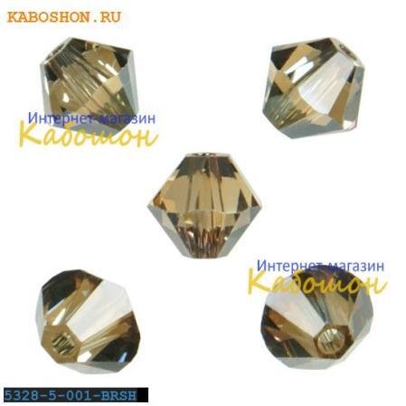 Swarovski Xilion beads 5 мм Crystal Bronze Shade