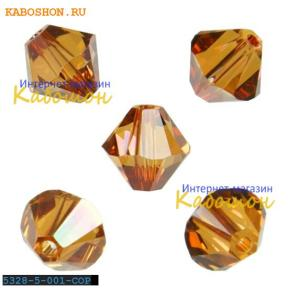 Swarovski Xilion beads 5 мм Crystal Copper