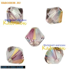 Swarovski Xilion beads 5 мм Crystal Lilac Shadow