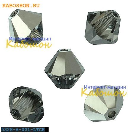 Swarovski Xilion beads 5 мм Crystal Light Chrome