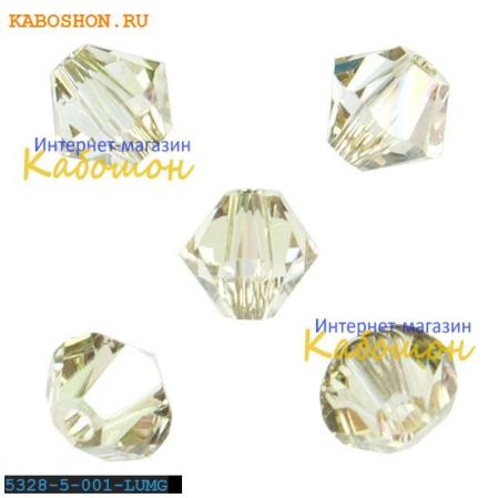 Swarovski Xilion beads 5 мм Crystal Luminous Green