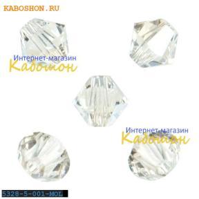 Swarovski Xilion beads 5 мм Crystal Moonlight