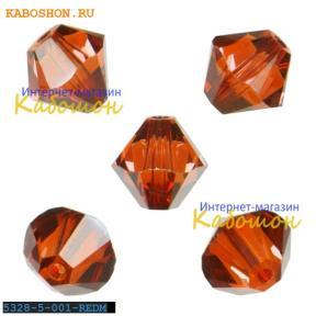 Swarovski Xilion beads 5 мм Crystal Red Magma