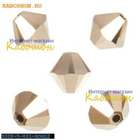 Swarovski Xilion beads 5 мм Crystal Rose Gold 2x