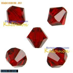 Swarovski Xilion beads 5 мм Siam