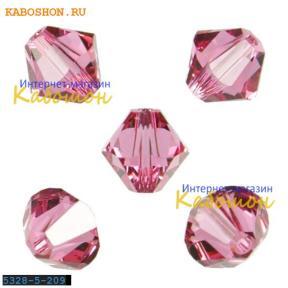Swarovski Xilion beads 5 мм Rose