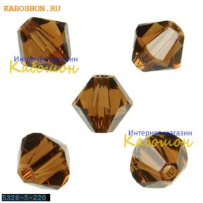 Swarovski Xilion beads 5 мм Smoked Topaz