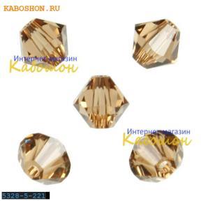 Swarovski Xilion beads 5 мм Lt.Smoked Topaz