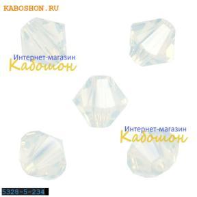 Swarovski Xilion beads 5 мм White Opal