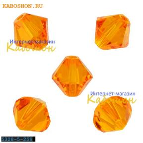 Swarovski Xilion beads 5 мм Tangerine