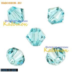 Swarovski Xilion beads 5 мм Lt.Turquoise