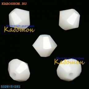 Swarovski Xilion beads 5 мм White Alabaster