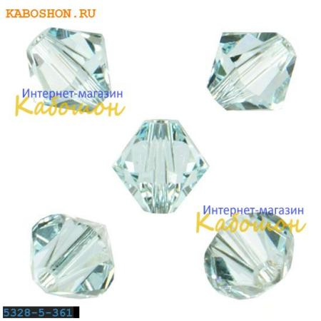 Бусина биконус Swarovski (Сваровски) Xilion beads 5 мм Lt.Azore