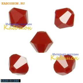 Swarovski Xilion beads 5 мм Dark Red Coral