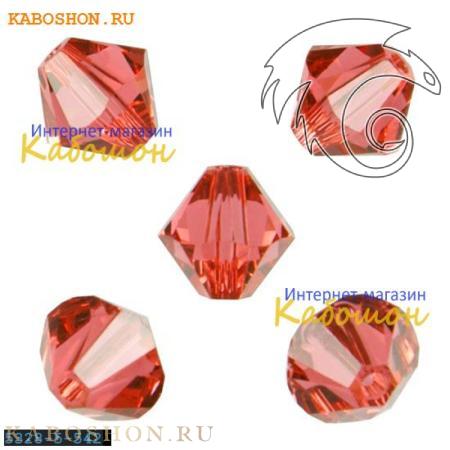 Бусина биконус Swarovski (Сваровски) Xilion beads 5 мм Padparadscha