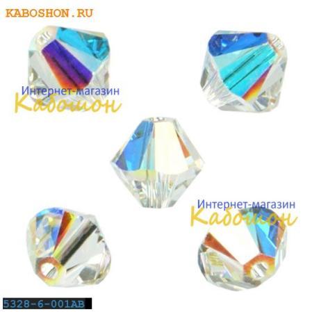 Swarovski Xilion beads 6 мм Crystal AB