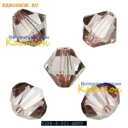Swarovski Xilion beads 6 мм Crystal Antique Pink