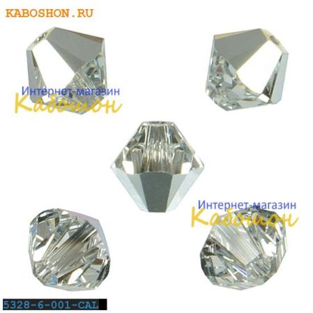 Swarovski Xilion beads 6 мм Crystal Comet Argent Light