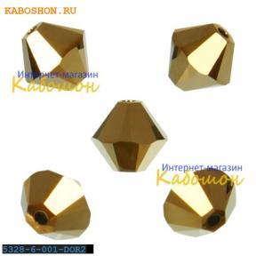 Swarovski Xilion beads 6 мм Crystal Dorado 2x