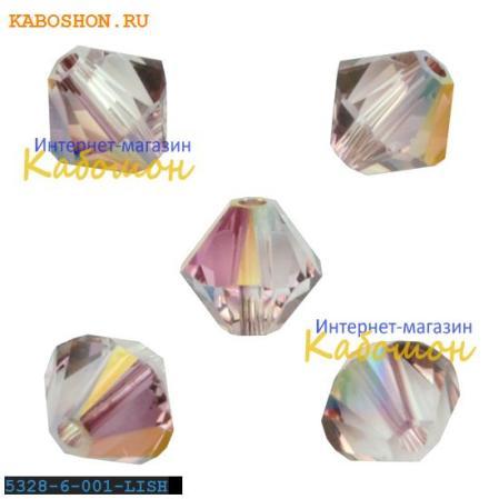 Swarovski Xilion beads 6 мм Crystal Lilac Shadow