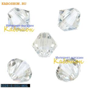 Swarovski Xilion beads 6 мм Crystal Moonlight