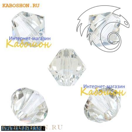Бусина биконус Swarovski (Сваровски) Xilion beads 6 мм Crystal Moonlight
