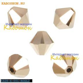 Swarovski Xilion beads 6 мм Crystal Rose Gold 2x