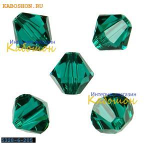 Swarovski Xilion beads 6 мм Emerald
