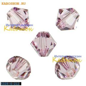 Swarovski Xilion beads 6 мм Light Amethyst
