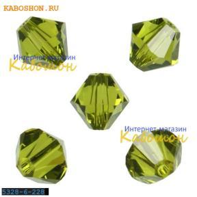 Swarovski Xilion beads 6 мм Olivine