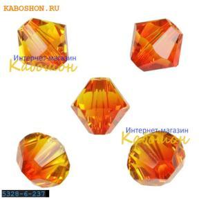 Swarovski Xilion beads 6 мм Fireopal