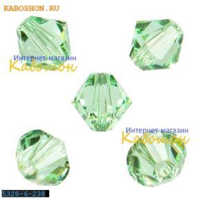 Swarovski Xilion beads 6 мм Chrysolite