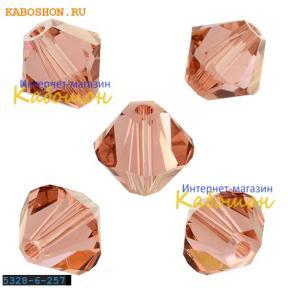 Swarovski Xilion beads 6 мм Blush Rose