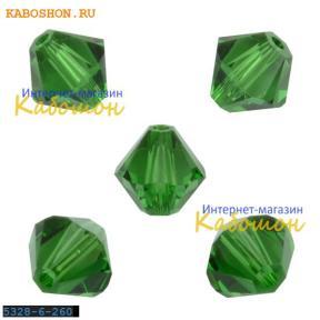 Swarovski Xilion beads 6 мм Dark Moss Green