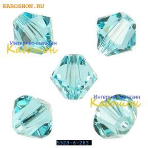 Swarovski Xilion beads 6 мм Light Turquoise