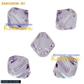 Swarovski Xilion beads 6 мм Smoky Mauve