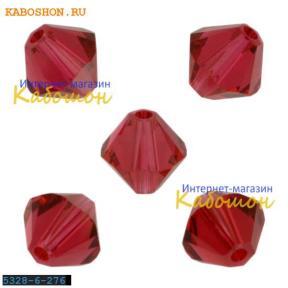 Swarovski Xilion beads 5 мм Scarlet
