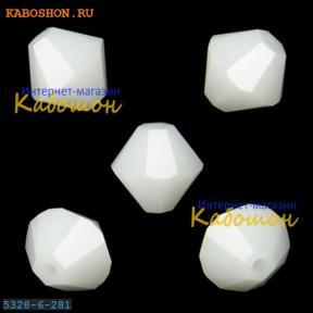 Swarovski Xilion beads 6 мм White Alabaster