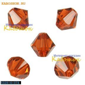 Swarovski Xilion beads 6 мм Indian Red