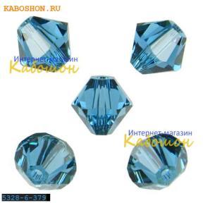 Swarovski Xilion beads 6 мм Indicolite