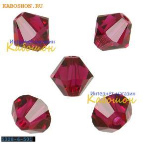 Swarovski Xilion beads 6 мм Ruby