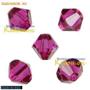 Swarovski Xilion beads 6 мм Fuchsia