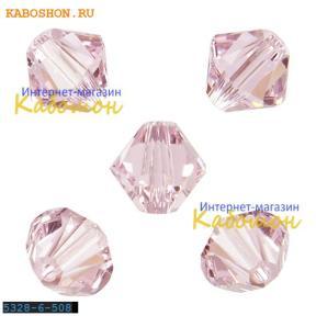 Swarovski Xilion beads 6 мм Rosaline